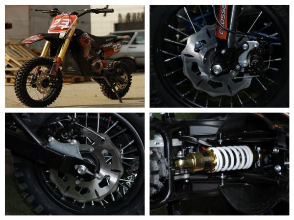 Motocicleta electrica Eco Tiger 1000W 36V 12/10 #Portocaliu 6