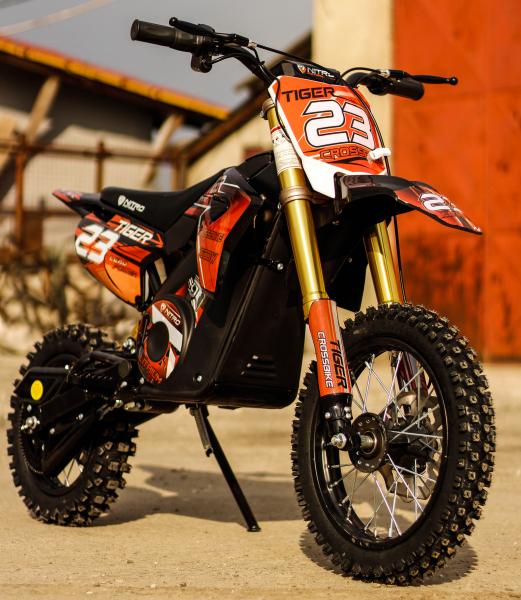 Motocicleta electrica Eco Tiger 1000W 36V 12/10 #Portocaliu 9