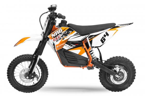 Motocicleta electrica Eco NRG 800W 48V 12/10 #Portocaliu 2