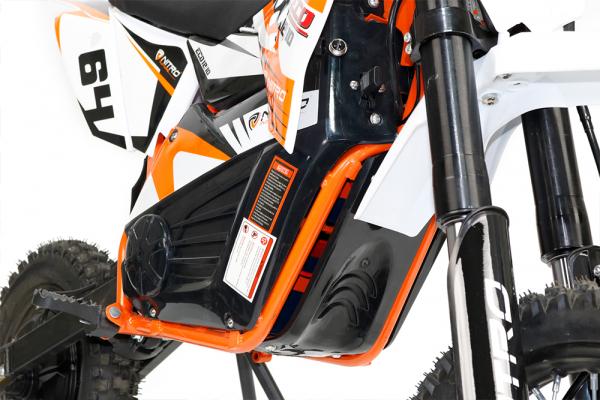 Motocicleta electrica Eco NRG 800W 48V 12/10 #Portocaliu 11