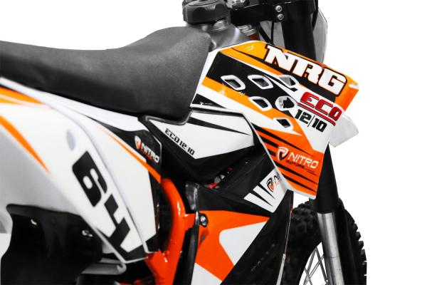 Motocicleta electrica Eco NRG 800W 48V 12/10 #Portocaliu 9