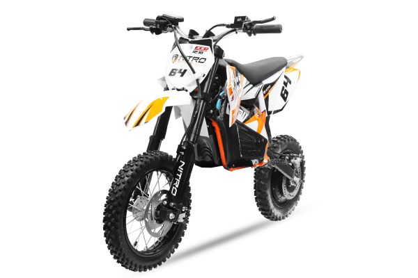 Motocicleta electrica Eco NRG 500W 48V 12/10 #Portocaliu 0