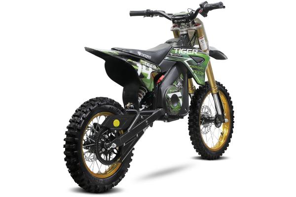 Motocicleta electrica Eco Tiger 1300W 14/12 48V 14Ah Lithiu ION #Verde 4