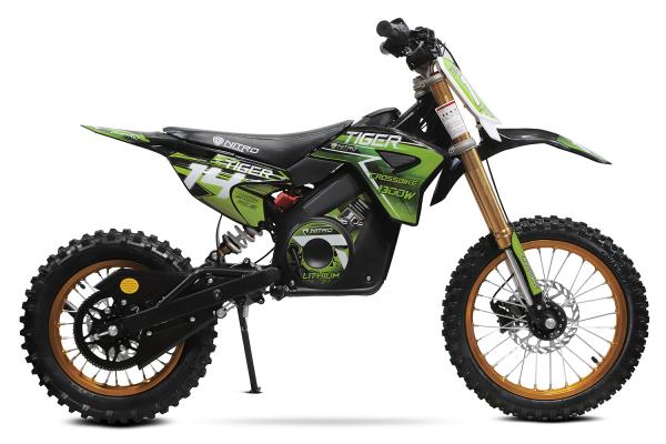 Motocicleta electrica Eco Tiger 1300W 14/12 48V 14Ah Lithiu ION #Verde 3