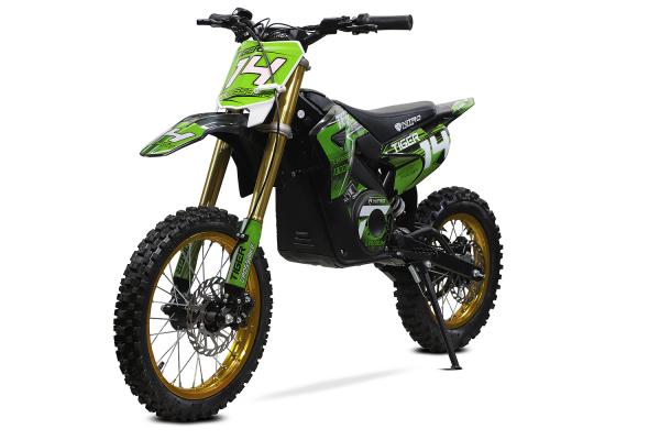 Motocicleta electrica Eco Tiger 1300W 14/12 48V 14Ah Lithiu ION #Verde 0