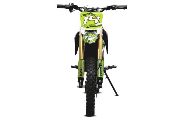 Motocicleta electrica Eco Tiger 1300W 14/12 48V 14Ah Lithiu ION #Verde 2