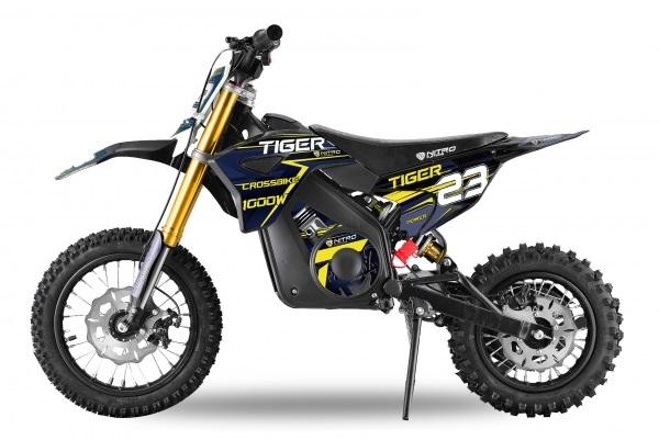 Motocicleta electrica Eco Tiger 1300W 14/12 48V 14Ah Lithiu ION #Albastru [0]