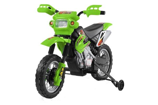 Motocicleta electrica pentru copii BJ014 45W 6V STANDARD #Verde [0]