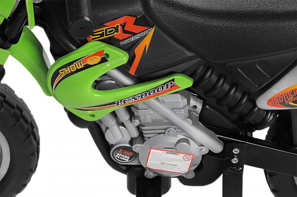 Motocicleta electrica pentru copii BJ014 45W 6V STANDARD #Verde [4]