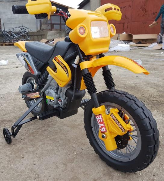 Motocicleta electrica pentru copii BJ014 45W 6V STANDARD #Galben 4
