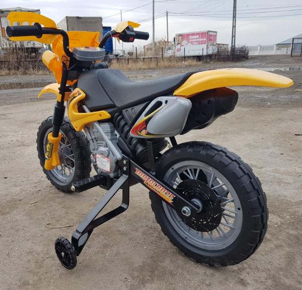Motocicleta electrica pentru copii BJ014 45W 6V STANDARD #Galben 9