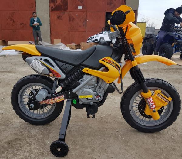 Motocicleta electrica pentru copii BJ014 45W 6V STANDARD #Galben 7
