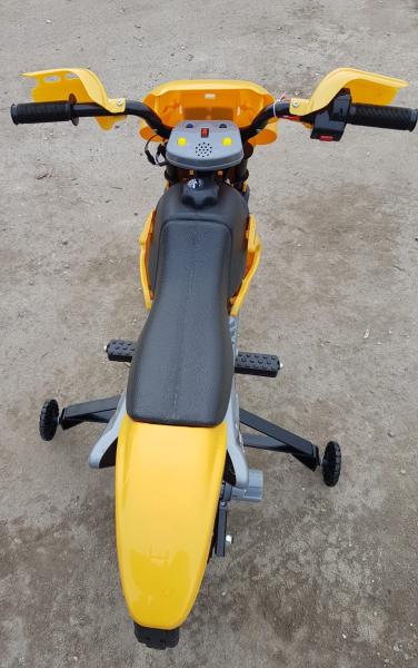 Motocicleta electrica pentru copii BJ014 45W 6V STANDARD #Galben 5