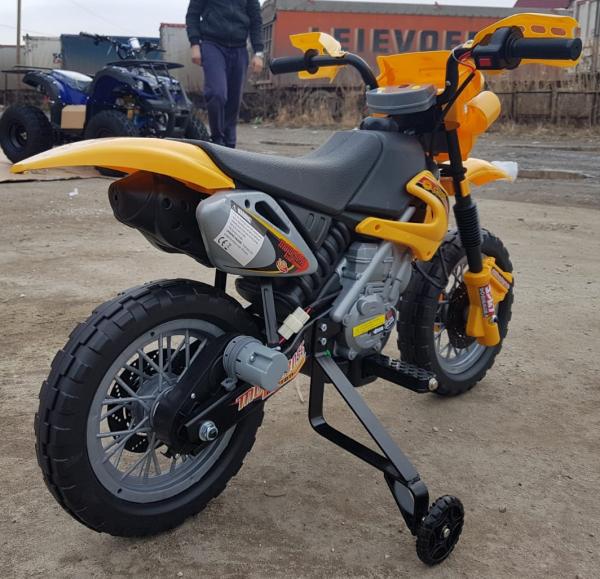 Motocicleta electrica pentru copii BJ014 45W 6V STANDARD #Galben 8