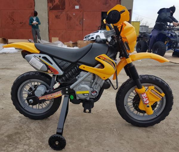 Motocicleta electrica pentru copii BJ014 45W 6V STANDARD #Galben 2