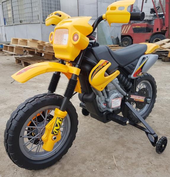 Motocicleta electrica pentru copii BJ014 45W 6V STANDARD #Galben 1