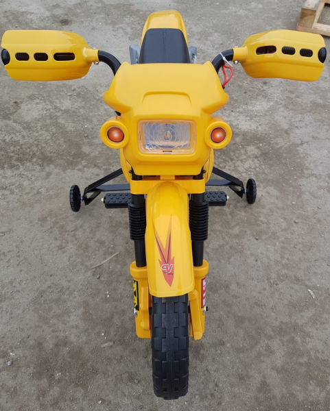 Motocicleta electrica pentru copii BJ014 45W 6V STANDARD #Galben 6