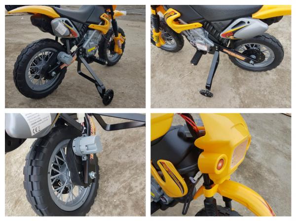 Motocicleta electrica pentru copii BJ014 45W 6V STANDARD #Galben 11