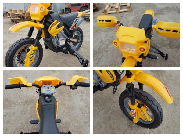 Motocicleta electrica pentru copii BJ014 45W 6V STANDARD #Galben 10