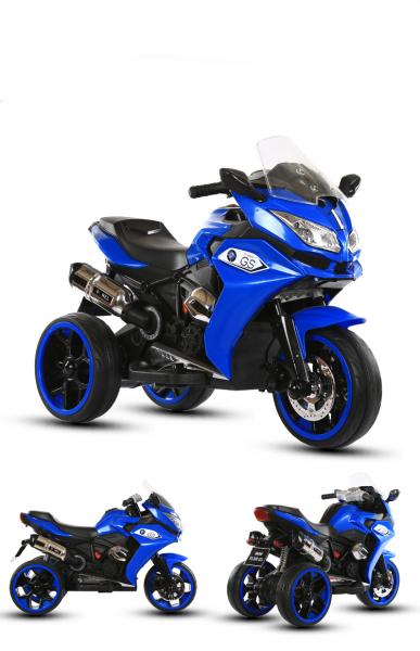 Motocicleta electrica pentru copii BJ1200 2x30W STANDARD #Albastru 1