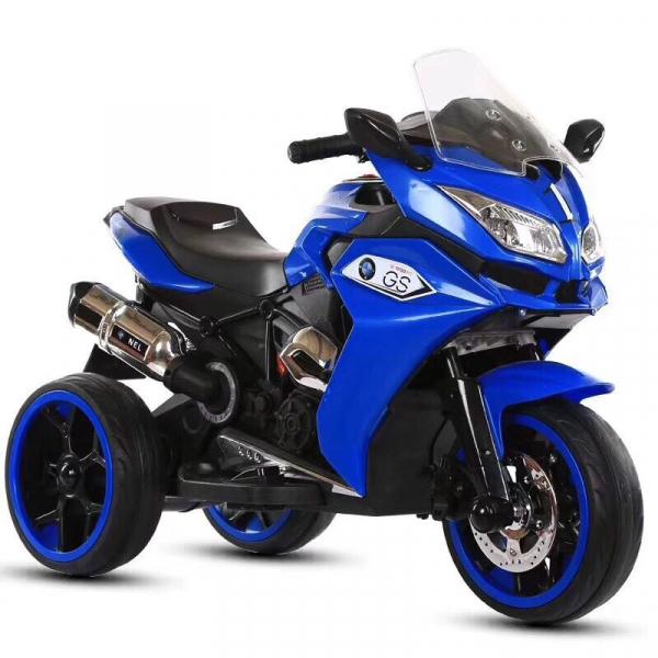 Motocicleta electrica pentru copii BJ1200 2x30W STANDARD #Albastru 0