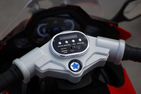 Motocicleta electrica pentru copii BJ1200 2x30W STANDARD #Rosu [10]