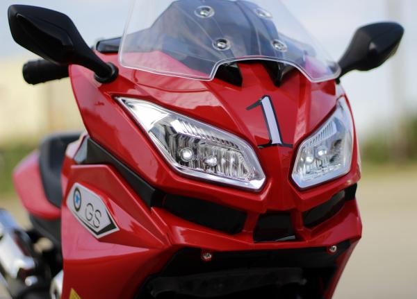 Motocicleta electrica pentru copii BJ1200 2x30W STANDARD #Rosu [11]