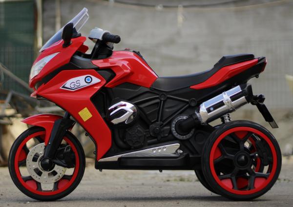 Motocicleta electrica pentru copii BJ1200 2x30W STANDARD #Rosu [3]
