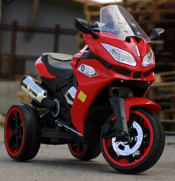 Motocicleta electrica pentru copii BJ1200 2x30W STANDARD #Rosu [1]