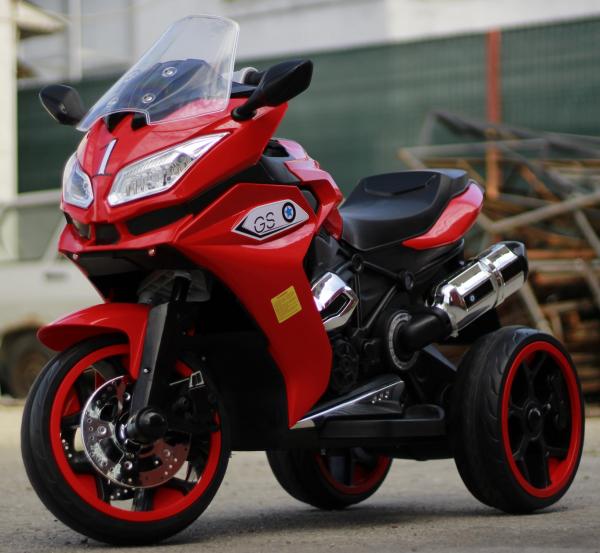 Motocicleta electrica pentru copii BJ1200 2x30W STANDARD #Rosu [2]
