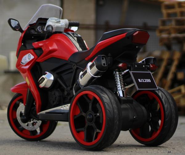 Motocicleta electrica pentru copii BJ1200 2x30W STANDARD #Rosu [4]