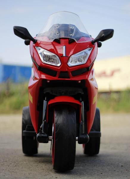 Motocicleta electrica pentru copii BJ1200 2x30W STANDARD #Rosu [6]