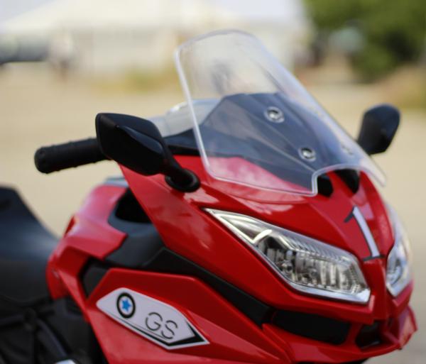 Motocicleta electrica pentru copii BJ1200 2x30W STANDARD #Rosu [7]