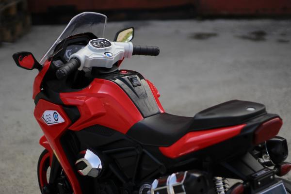 Motocicleta electrica pentru copii BJ1200 2x30W STANDARD #Rosu [8]