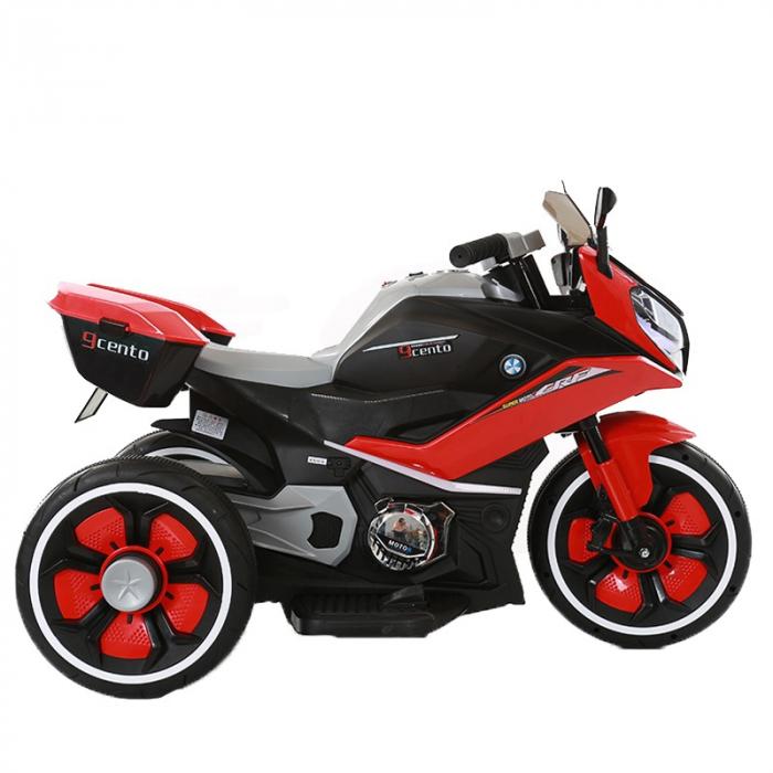 Motocicleta electrica pentru copii BJ618 60W 6V STANDARD #Rosu 0