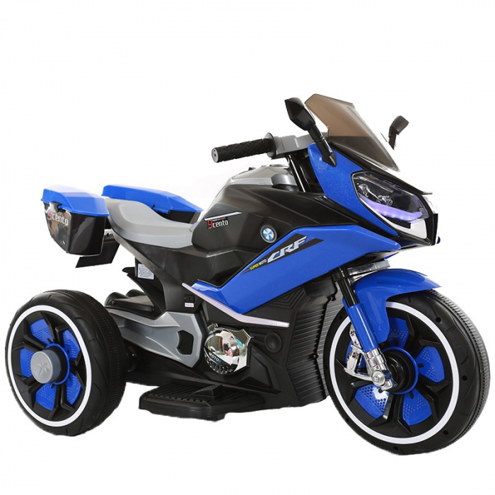 Motocicleta electrica pentru copii BJ618 60W 6V STANDARD #Albastru 0
