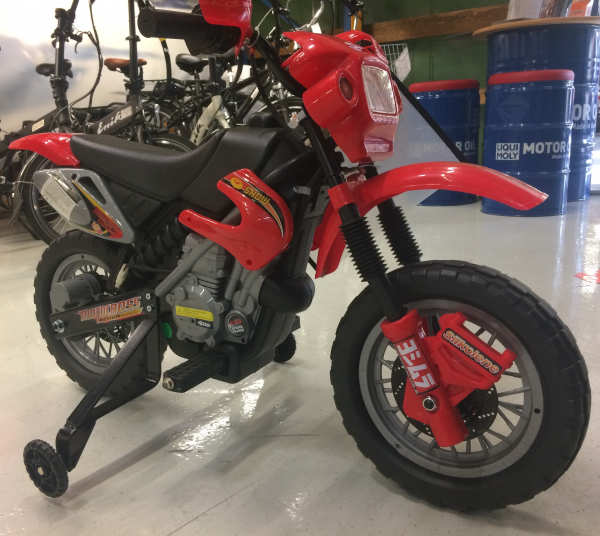 Motocicleta electrica pentru copii BJ014 45W 6V STANDARD #Rosu 2