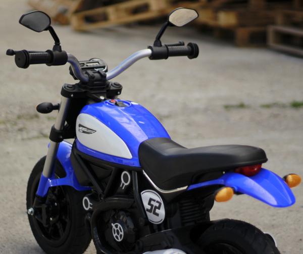Motocicleta electrica pentru copii BT307 2x20W CU ROTI Gonflabile #Albastru 11