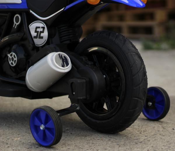 Motocicleta electrica pentru copii BT307 2x20W CU ROTI Gonflabile #Albastru 7