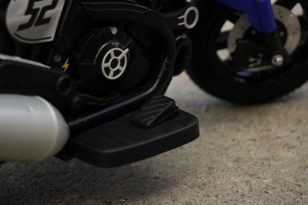 Motocicleta electrica pentru copii BT307 2x20W CU ROTI Gonflabile #Albastru 6