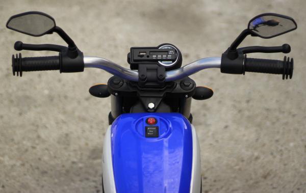 Motocicleta electrica pentru copii BT307 2x20W CU ROTI Gonflabile #Albastru 8