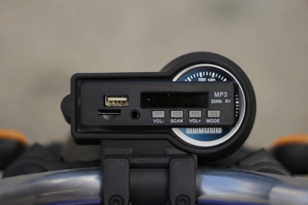Motocicleta electrica pentru copii BT307 2x20W CU ROTI Gonflabile #Albastru 10