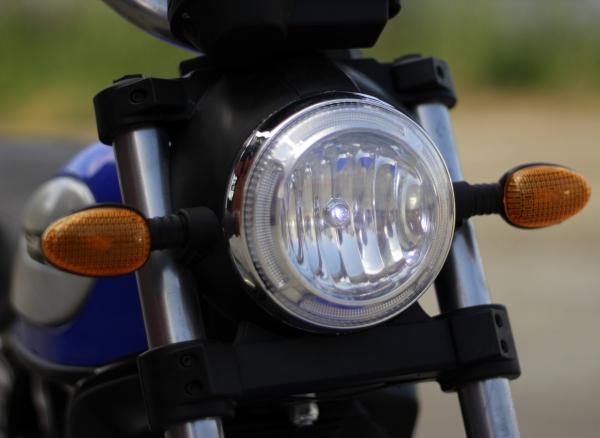 Motocicleta electrica pentru copii BT307 2x20W CU ROTI Gonflabile #Albastru 12