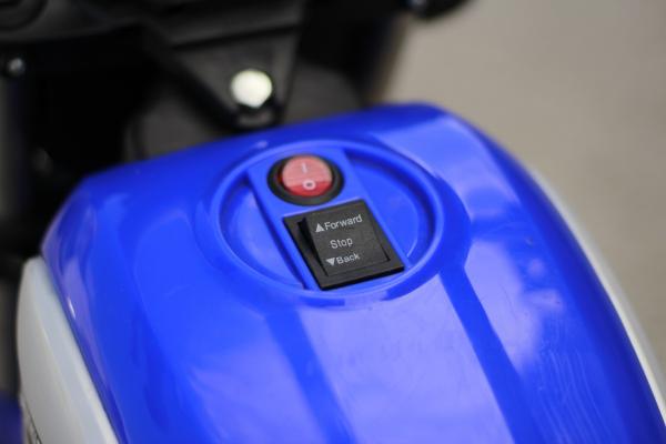 Motocicleta electrica pentru copii BT307 2x20W CU ROTI Gonflabile #Albastru 9