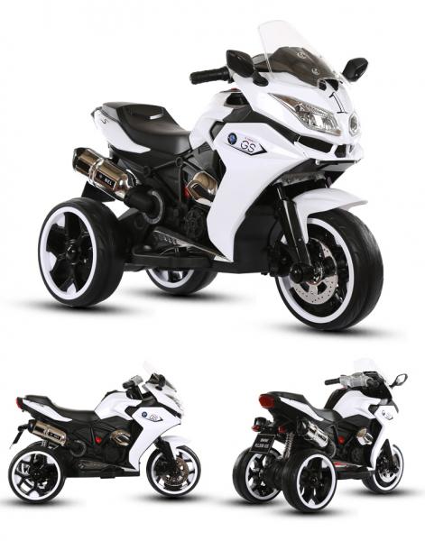 Motocicleta electrica pentru copii BJ1200 2x30W STANDARD #Alb 1