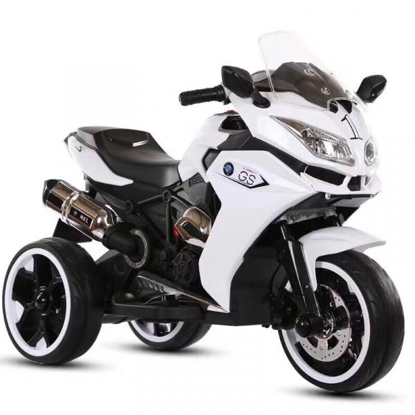 Motocicleta electrica pentru copii BJ1200 2x30W STANDARD #Alb 0
