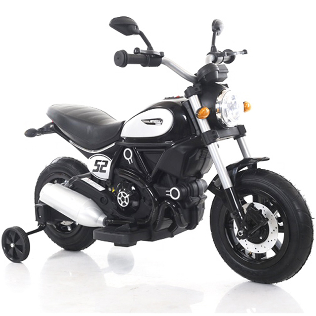 Motocicleta electrica pentru copii BT307 60W CU ROTI Gonflabile #Negru [0]