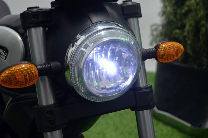 Motocicleta electrica pentru copii BT307 60W CU ROTI Gonflabile #Negru [8]
