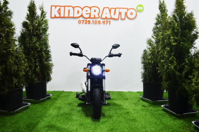 Motocicleta electrica pentru copii BT307 60W CU ROTI Gonflabile #Negru [3]