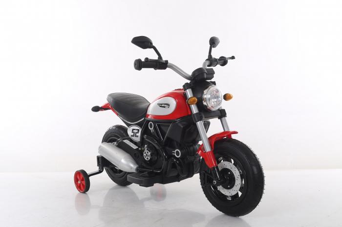 Motocicleta electrica pentru copii BT307 60W CU ROTI Gonflabile #Rosu 8